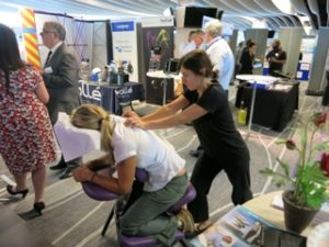 Chair Massage at an event