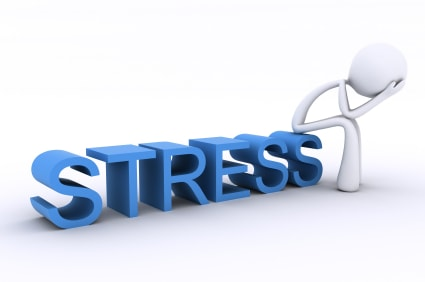 A person under stress