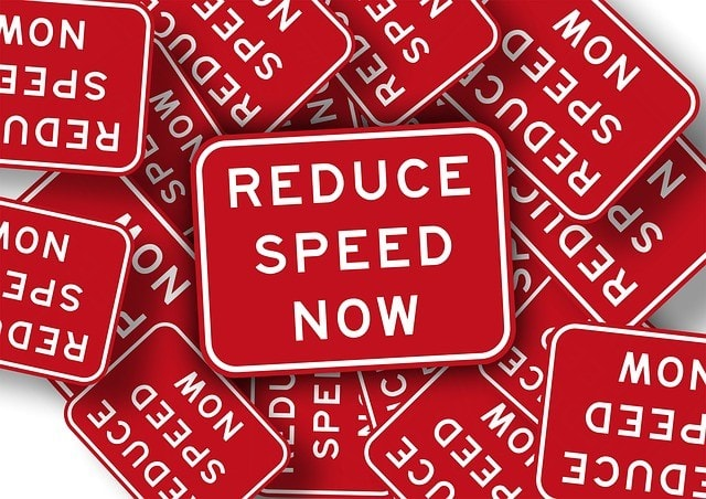 reduce speed stickers
