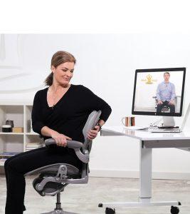 Desk Yogi chair twist
